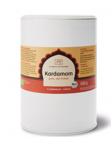 Cardamom (whole, with husk) organic 500 g by Classic Ayurveda