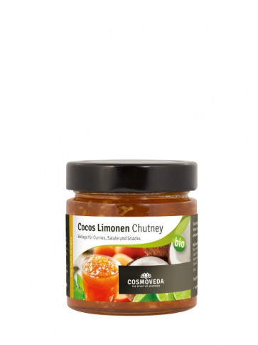 Cocos Lime Chutney organic 225 g by Cosmoveda