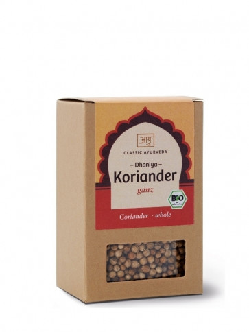 Coriander (whole) organic 50 g by Classic Ayurveda