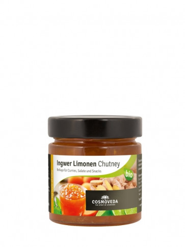 Ginger Lime Chutney organic 225 g by Cosmoveda