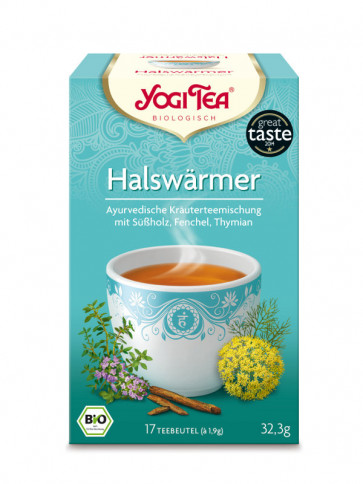 Throat-warmer Tea organic 17 tea bags à 1,8 g (30,6 g) by Yogi Tea