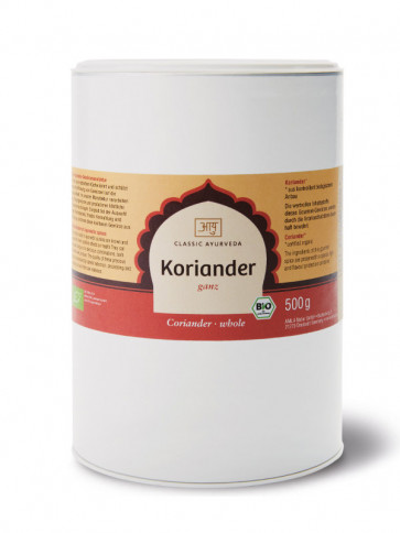 Coriander (whole) organic 500 g by Classic Ayurveda