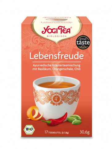 Zest For Life Tea organic 17 tea bags à 1,8 g (30,6 g) by Yogi Tea