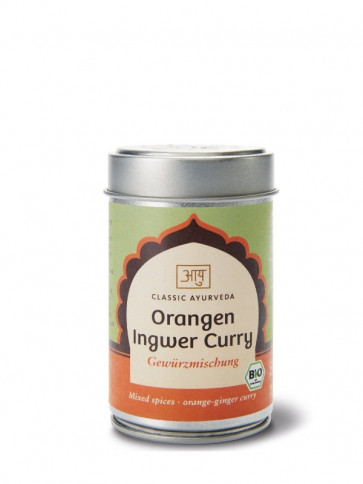 Orange Ginger Curry Spice Blend organic 50 g by Classic Ayurveda