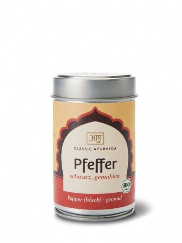 Pepper (black, ground) organic 70 g by Classic Ayurveda