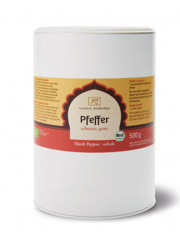 Pepper (black, whole) organic 500 g by Amla Natur