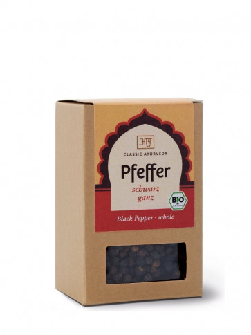 Pepper (black, whole) organic 70 g by Classic Ayurveda