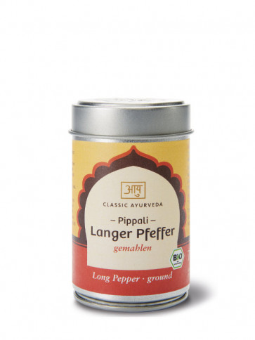 Pippali Long pepper (ground) organic 70 g by Classic Ayurveda