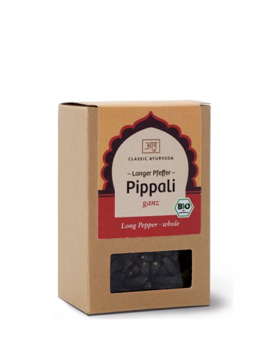 Pippali Long Pepper (whole) organic 50 g by Classic Ayurveda