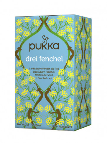 Three Fennel Tea organic, 20 tea bags à 1,8 g (36 g) by Pukka Herbs