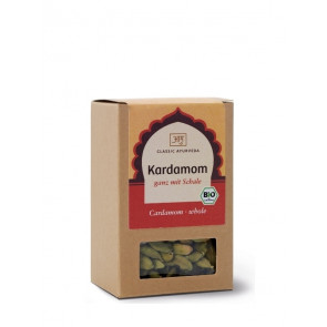 Cardamom (whole, with husk) organic 50 g by Classic Ayurveda