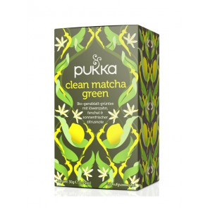 Clean Green Tea organic, 20 tea bags à 1,5 g (30 g) by Pukka Herbs