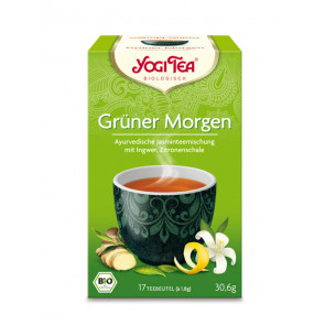 Green Morning Tea organic 17 tea bags à 1,8 g (30,6 g) by Yogi Tea