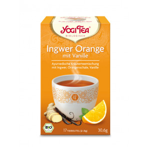 Ginger Orange with Vanilla Tea organic 17 tea bags à 1,8 g (30,6 g) by Yogi Tea