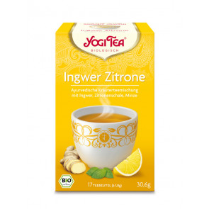 Ginger Lemon Tea organic 17 tea bags à 1,8 g (30,6 g) by Yogi Tea