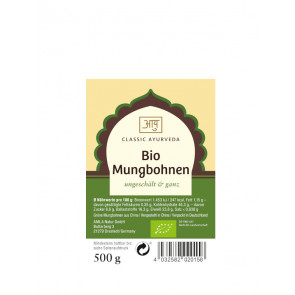 Mung Beans (unpeeled & whole), organic