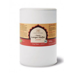 Pippali Long Pepper (ground) organic 500 g by Classic Ayurveda